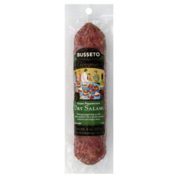 Busseto Foods Dry Salami Green Peppercorn