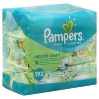 Pampers Natural Aloe Pampers Baby Wipes Natural Clean 3X 192 count  Baby Wipes