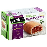 Gardein Pizza Pockets, Pepperoni, Meatless, Box