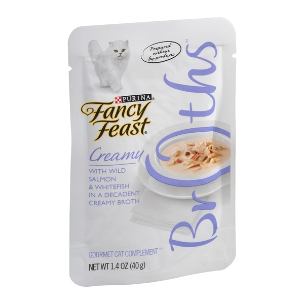 Fancy Feast Broths Creamy with Wild Salmon & Whitefish Cat Food