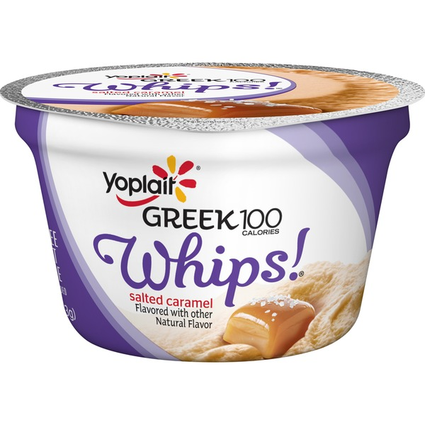 Yoplait Greek 100 Calories Whips! Salted Caramel Fat Free Yogurt Mousse