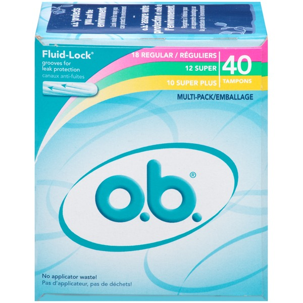 O.B. Fluid-Lock Regular/Super/Super Plus Tampons
