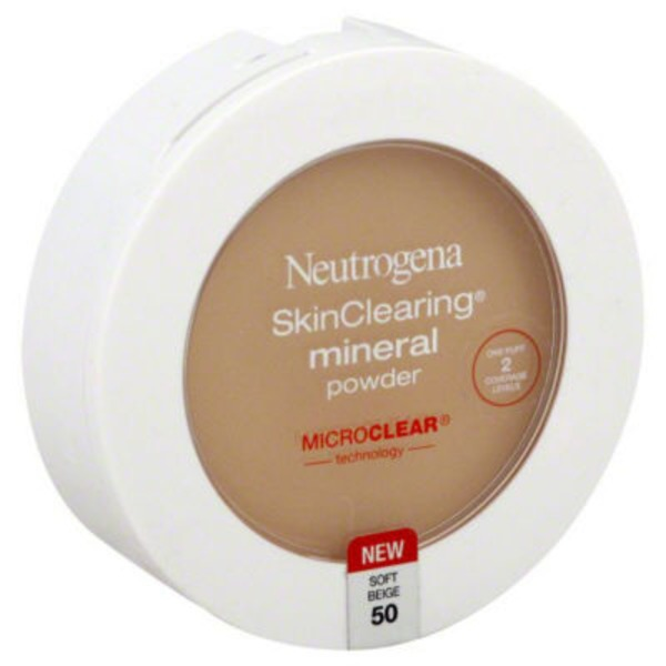 Neutrogena® Mineral Powder Soft Beige 50 Skin Clearing®