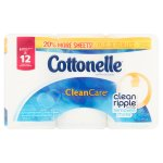 Cottonelle Clean Care Toilet Paper Double Rolls, 208 sheets, 6 rolls