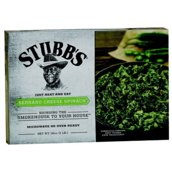 Stubb's Serrano Cheese Spinach