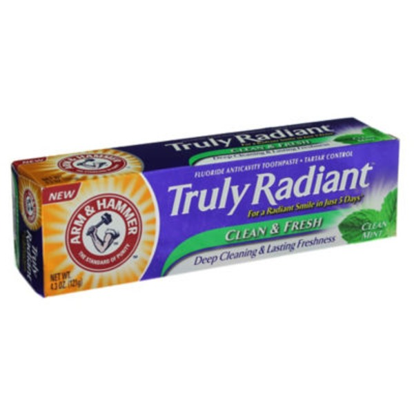 Arm & Hammer Truly Radian Clean & Fresh Clean Mint Fluoride Anticavity Toothpaste