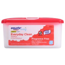 Equate Baby Fragrance Free Wipes, Everyday Clean, 72 Ct