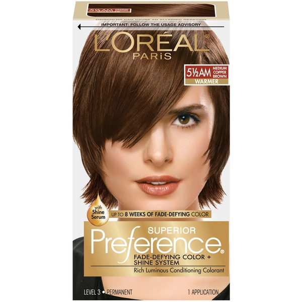 Superior Preference Warmer 5-1/2AM Medium Copper Brown Hair Color