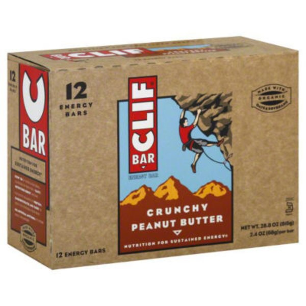 Clif Bars Crunchy Peanut Butter Energy Bars
