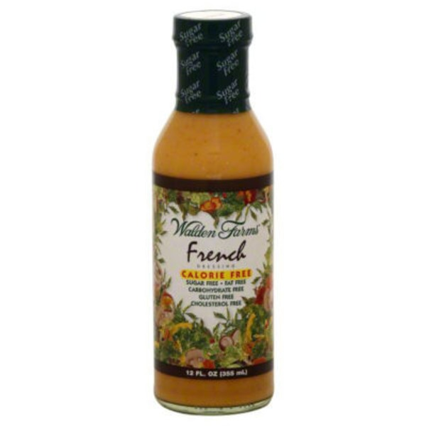 Walden Farms Dressing, Salad, French, Fat Free, Sugar Free, Bottle