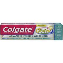 Colgate Total Advanced Fresh + Whitening Anticavity Fluoride and Antigingivitis Toothpaste, 5.8 Oz