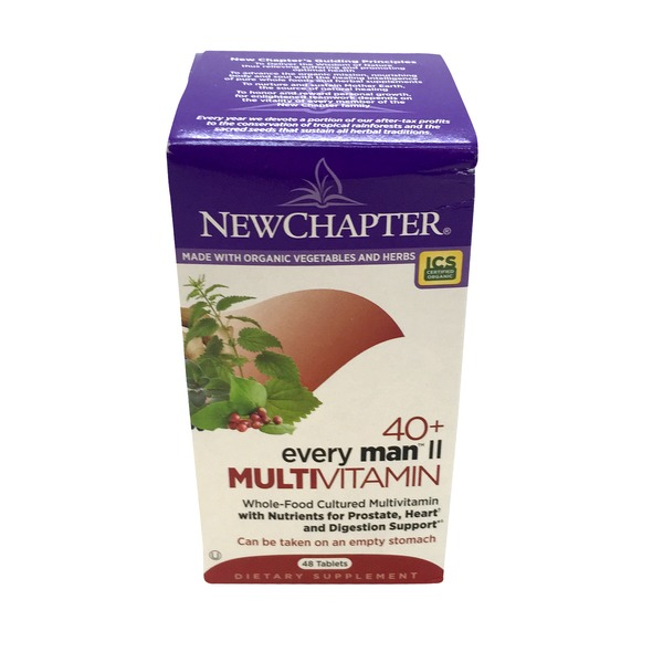 New Chapter 40+ Every Man II Multi Vitamin