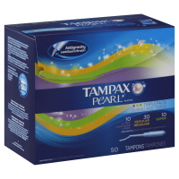 Tampax Unscented Pearl Plastic Multi Pack Tampons