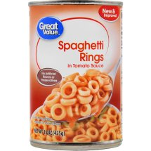 Great Value Spaghetti Rings in Tomato Sauce, 15 oz