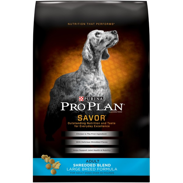 Pro Plan Dog Dry Savor Adult Shredded Blend Large Breed Formula Dog Food