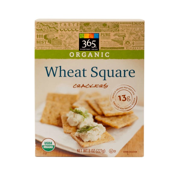 365 Organic Wheat Square Crackers
