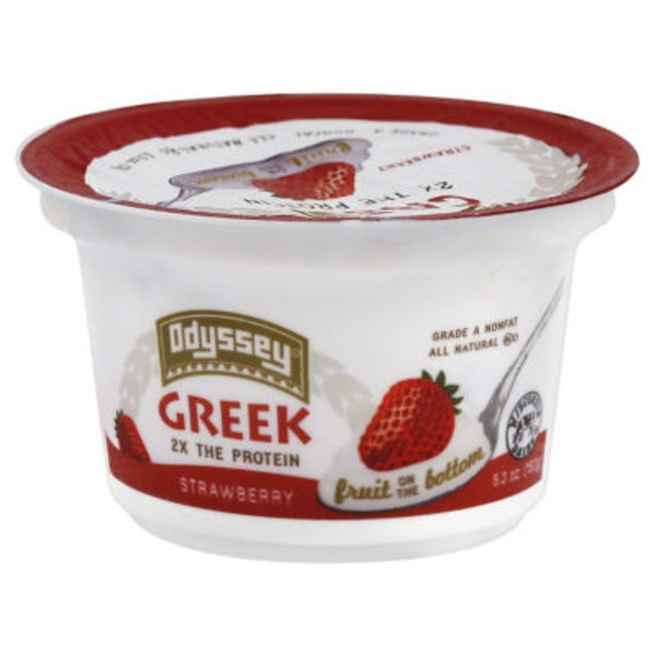 Odyssey Greek Nonfat Fruit on the Bottom Strawberry Yogurt
