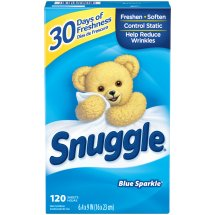 Snuggle Blue Sparkle Fabric Softener Dryer Sheets 120 ct Box