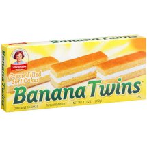 Little Debbie Creme Filled Soft Cakes Banana Twins, 11 oz