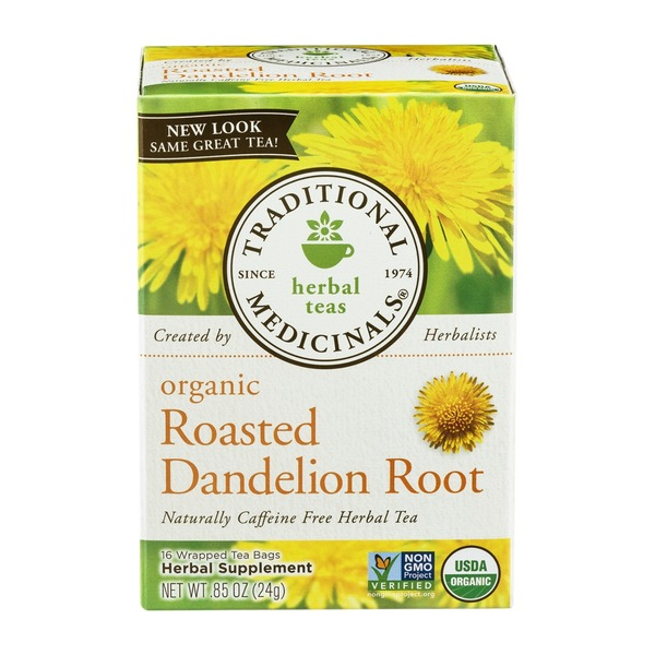 Traditional Medicinals Organic Roasted Dandelion Root, Caffeine Free Herbal Tea