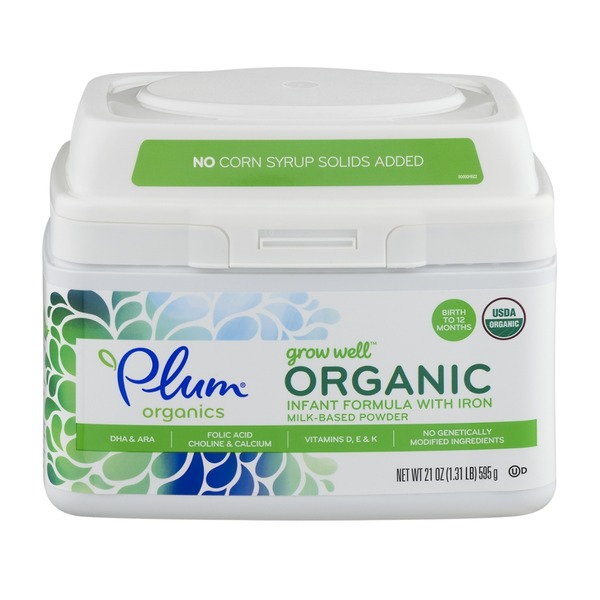 Plum Organics Grow Well Organic Infant Formula with Iron