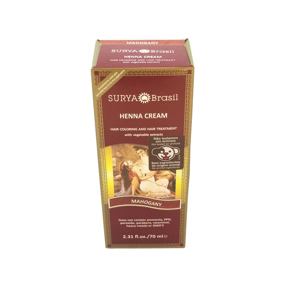 Surya Henna Brasil Cream Hair Coloring With Organic Extracts Mahogany