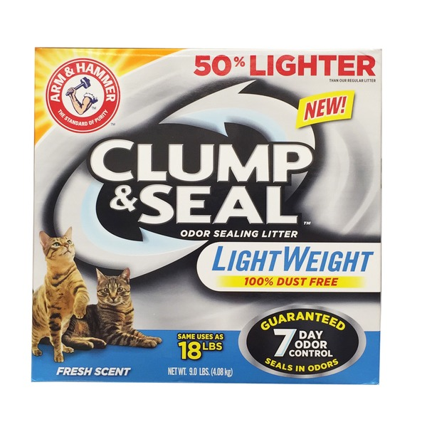 Arm & Hammer Clump & Seal Light Weight Fresh Scent Odor Sealing Cat Litter