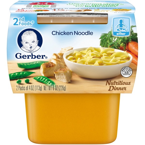 Gerber Chicken Noodle Nutritious Dinner 2nd Foods
