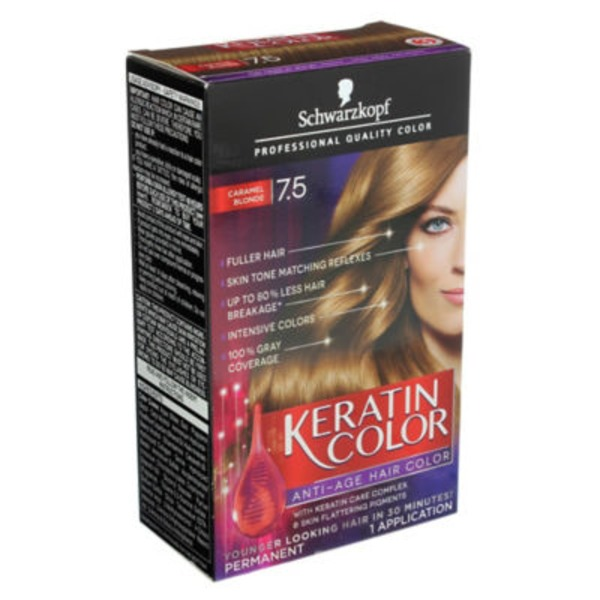 Keratin Color Anti-Age 7.5 Caramel Blonde Hair Color