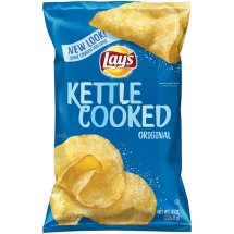 Lay's® Kettle Cooked Potato Chips, Original, 8 oz. Bag