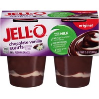 Jell O Ready To Eat Orinigal Chocolate Vanilla Swirls Pudding Snacks