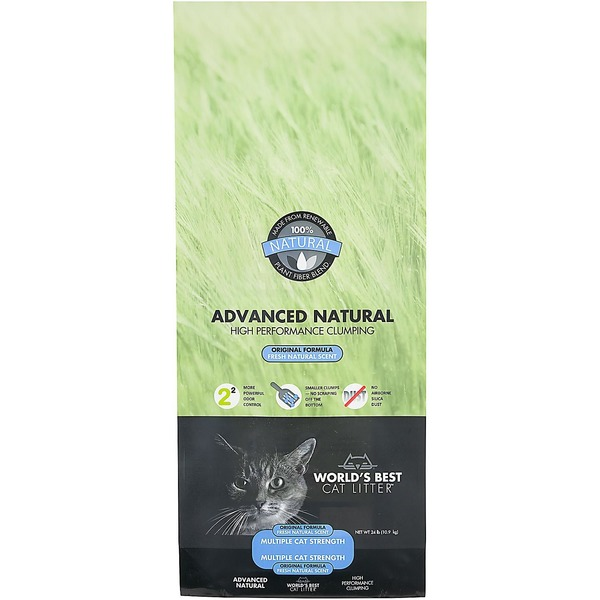World's Best Cat Litter Advanced Natural High Performance Clumping