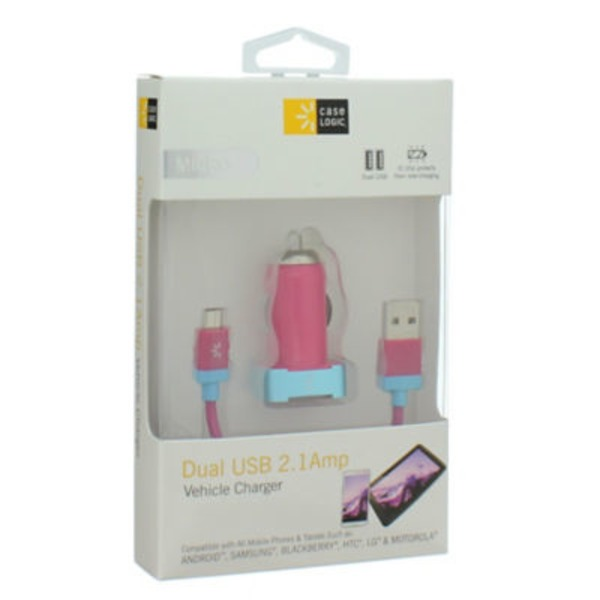 Case Logic 2.1Amp Car Charger Micro Usb Cable