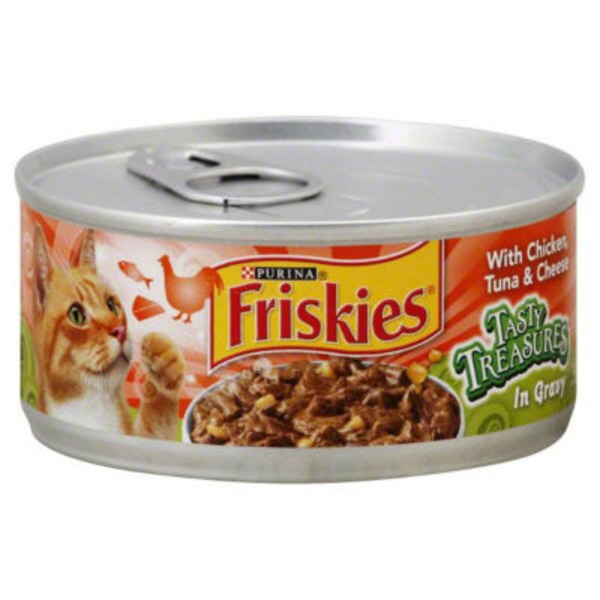 Friskies Tasty Treasures with Chicken Tuna & Cheese in Gravy Cat Food
