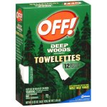 OFF! Deep Woods Sportsmen Towelettes with 25% DEET (12 ct)