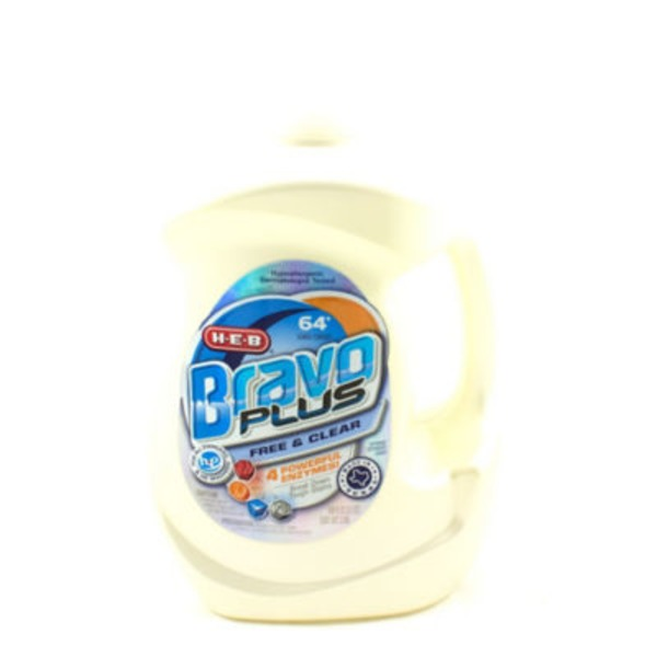 H-E-B Bravo Plus Free N' Clear Liquid Detergent 64 Loads