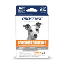 Pro-Sense Dog Dewormer Solutions Safe-Guard 1 Gram, 3 ct