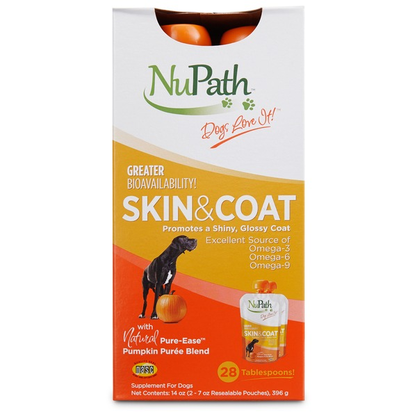 NuPath Skin & Coat With Natural Pure-Ease Pumpkin Puree Blend Supplement for Dogs