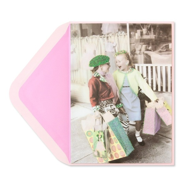 Papyrus 2 Girls Shopping Card