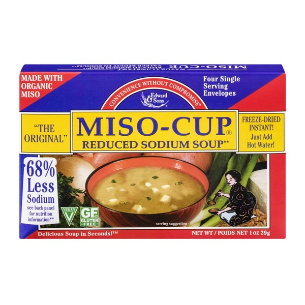 Edward & Sons Edward & Sons Miso-Cup Ruduced Sodium Soup - 4 CT
