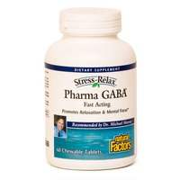 Natural Factors Stress Relax Pharma Gaba Chewable Tablets