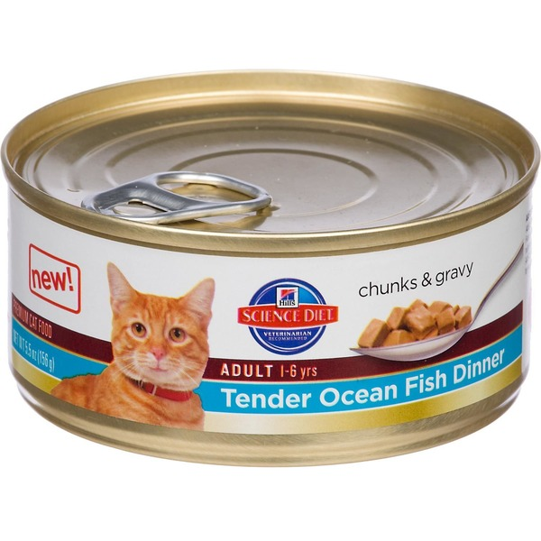 Hill's Science Diet Premium Tender Ocean Fish Dinner Chunks and Gravy Adult Cat Food