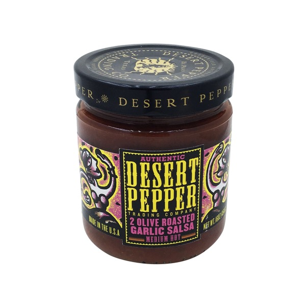 Desert Pepper Medium Hot 2 Olive Roasted Garlic Salsa