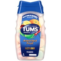 Tums Ultra Strength 1000 Assorted Fruit Chewable Tablets Antacid