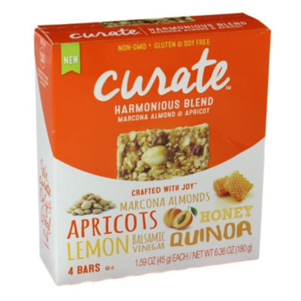 Curate Harmonious Blend Marcona Almond & Apricot Snack Bars
