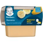 Gerber 1st Foods Bananas Baby Food, 2.5 oz Tubs, 2 Count