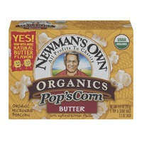 Newman's Own Pop's Corn Microwave Popcorn, Butter