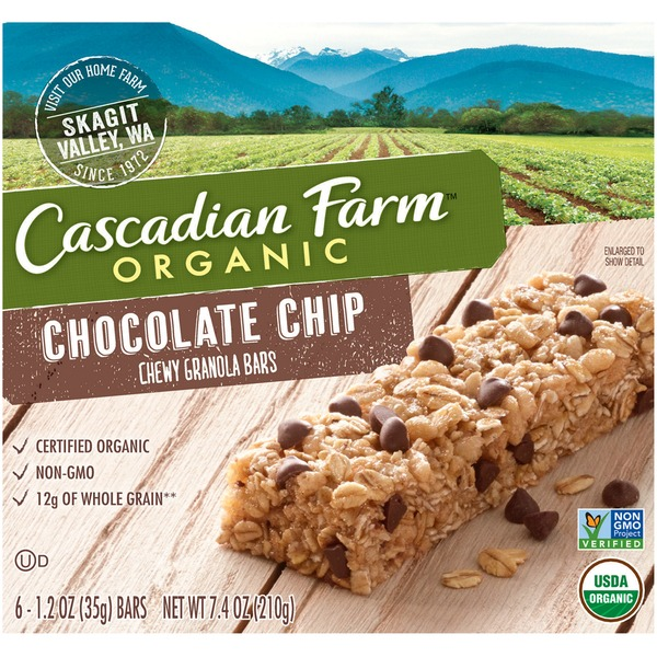 Cascadian Farm Organic Chocolate Chip Chewy Granola Bars - 6 CT