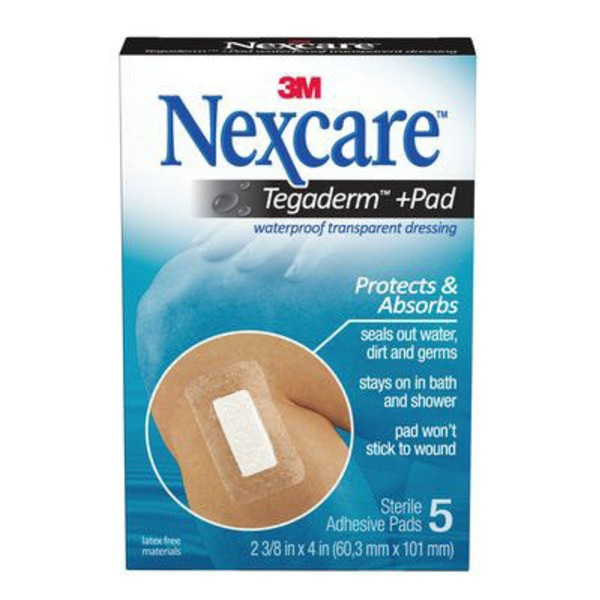 Nexcare 3M Nexcare Tegaderm + Pad Waterproof Transparent Adhesive Pads - 5 CT
