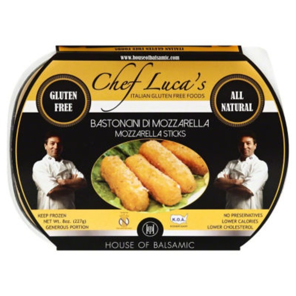 House of Balsamic Chef Luca's Mozzarella Sticks
